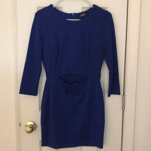 Lulus blue mini dress with cut out detail